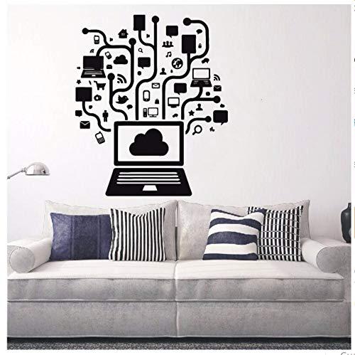 Zxfcczxf Kreative Computer Social Network Spiel Internet Teen Art Vinyl DesignWandaufkleberHome Room Decor Pvc Wandbild56 * 65 Cm (Halloween Spiele Internet Das)