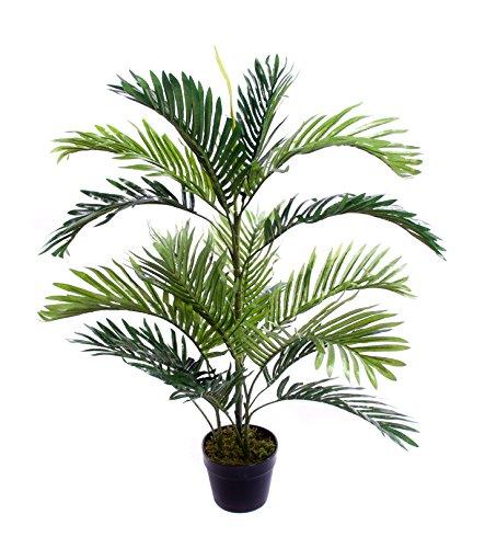 Best Artificial, palma tropicale artificiale da 90cm, per salotto, veranda, ufficio, giardino, interni ed esterni