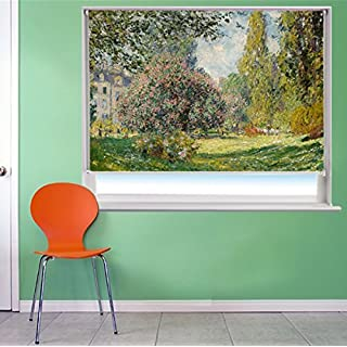 CLAUDE MONET THE PARC MONCEAU ART Printed Picture Blackout Photo Roller Blind - Custom Made Printed Window Blind