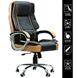 #2: Green Soul Vienna Big & Tall Premium Finish Manager, Boss, Executive Office Chair (Black & Tan) (+3 Colors)