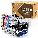 STAROVER 4x Kompatibel Tintenpatronen LC-3219XL Ersatz für Brother LC3219 XL LC3219XL Druckerpatrone für Brother MFC-J5330DW MFC-J5335DW MFC-J5730DW MFC-J5930DW MFC-J6530DW MFC-J6930DW MFC-J6935DW
