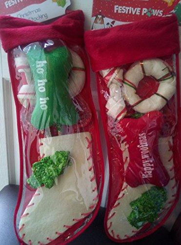 My Pet Trainingsunterlagen 8Stück Kauen Weihnachtsstrumpf Rohhaut Festive Weihnachten Hund Puppy Treat 250g enthalten squick Spielzeug Hund chrismass Geschenk