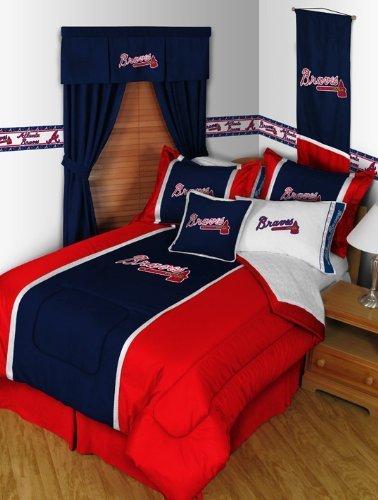 Atlanta Braves MVP Bedding Set-Twin-includes comforter, sheet set, 1 sham, bedskirt, 1 pillow by Sports Coverage -