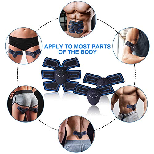 E&S Electroestimulador Muscular Abdominales Masajeador Eléctrico Cinturón, Abdomen/Brazo / Piernas/Cintura Entrenador Muscular