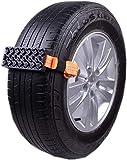 LOOMBNB Antideslizante de neumáticos Bloques 2 Piezas de Emergencia de Nieve Barro Arena Neumático Cadena Correas Dispositivo de tracción para Camiones y vehículos utilitarios Deportivos