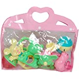 Gurukripa New Born Baby Cute & Attractive Dugi Dugi Rattle Set Sweet Cuddle Infant Non Toxic Of JhunJhuna Lovely Mixed Colour Ful For Babies Girl And Boy Unisex Teethers Gift Set Toy With Attractive Figures (Pink) Pack Of 6 Pcs