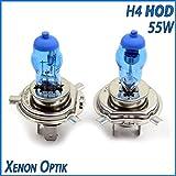 H.O.D. 2x Stück H4 55W HOD UV-Kristallglas mit...
