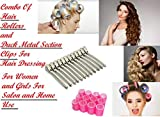 BOXO 2 in 1 Section Clips and Hair Rollers for Hair Styling 25