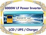 24000Watt Peak 6000Watt Low Frequency Pure Sine Wave Power Inverter 12V DC/220V-240V AC