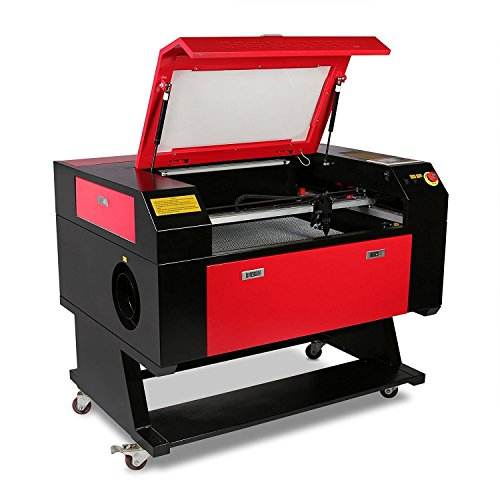 ZauberLu Laser-Graviermaschine mit Umwandlungsstecker 750 60W CO2-Laser-Graveur 500 x 700mm Laser-Fräsmaschine USB-Schnittstelle CAD und CorelDraw-Ausgang Engraver Machine Artwork