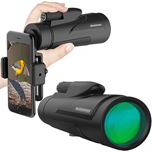 skop - BUDDYGO HD Monokular mit mobilem Adapter & Stativ, Wasserdicht & Stoßfest, optimal geeignet für Camping, Vogelbeobachtung, Reisen, Garten, Natur, Tiere & auch für die Jagd (Teleskop-objektiv)