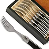 Set of 6 Laguiole forks ABS Luxury Black