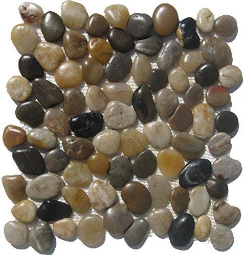 Mixed Natural River Rock Pebble Tile /