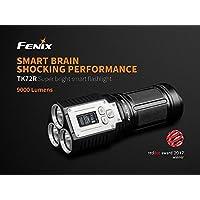Fenix by benture Fenix tk72r 9000lúmenes superluminosa linterna con Solider Procesamiento y pantalla OLED, Negro