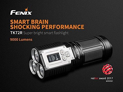 Fenix TK72R - 9000 Lumen Extrem Helle Taschenlampe mit solider Verarbeitung und OLED Display