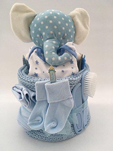 Bébé Garçon éléphant gâteau de couches pour bébé Cadeau Babyshower