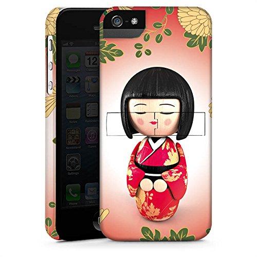Apple iPhone X Silikon Hülle Case Schutzhülle Kiku Kokeshi Puppe Asien Premium Case StandUp