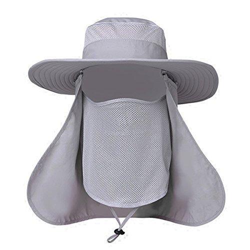 EINSKEY Fischerhut Herren UV Schutz Outdoor Sonnenhut mit Nackenschutz Faltbar Safarihut Wanderhut Wasserdicht Boonie Bucket Hat