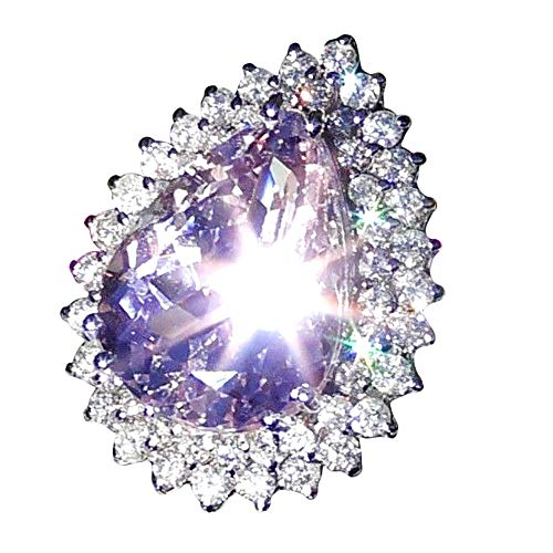 Damen Ring Damenring Diamant Edelstein Kristall Birthstone Jahrestagring Solitärehering Brautsat Stein Antragsring Weißgoldring Wie Diamantring ()