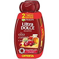 Garnier Ultra Dolce Shampoo al aceite de argan y arándano rojo para pelo colores, sin