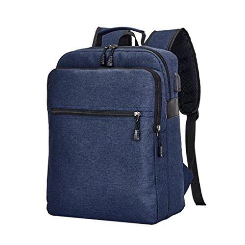 tifunktional Backpack Wasserdicht Reiserucksack mit USB Outdoor Wanderrucksacke jugendliche mädchen Rucksack Schultasche (Blau) (Notebook-rucksack North Face Rosa)