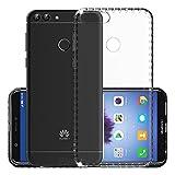 Coque Huawei P smart, EJBOTH Acrylique Housse Transparente Etui De Téléphone Protector Retour Capot De Protection Couverture pour Huawei P smart / Enjoy 7S - [Cadre souple + surface arrière dure].