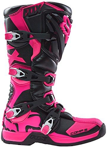 FOX 2016 Motocross/ Enduro Stiefel COMP 5 Frauen – schwarz-pink: Größe Stiefel: 40 EU / 8 US - 2