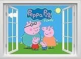 unbrending Peppa Pig Wandsticker Peppa Pig Family Wandtattoo Wandmalereien Peppa Pig Schlafzimmer Jungen Mädchen Wandaufkleber