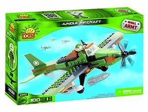 Small Army 100 Pcs Jungle Aircraft - Juego de construcción para niños de 50 Piezas (Cobi COB2222)