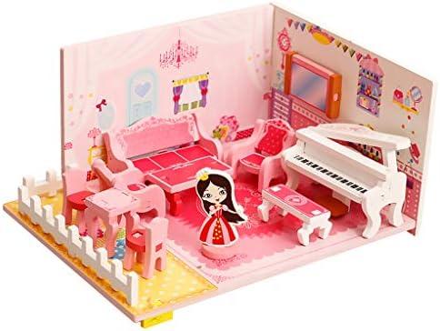 2D bricolage Musicien main Assemblé Maison Salon Salon Salon avec Fille Piano Meubles Set Puzzle Kit jouet éducatif | Facile à Nettoyer Surface  a74873