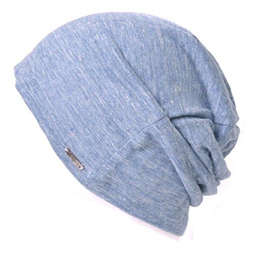 Casualbox Damen Beanie Leinen Sommer Aus Japan Hut stricken Mütze Geringes Gewicht Blau (Sommer Stricken Hut)