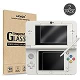 ( 2 Pack ) Schutzfolie für New Nintendo 3DS Akwox Kratzfest Panzerglasfolie 9H Härtegrad HD Folie