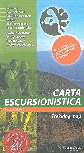 Parco nazionale foreste casentinesi, monte falterona e campigna. carta escursionistica 1:25.000