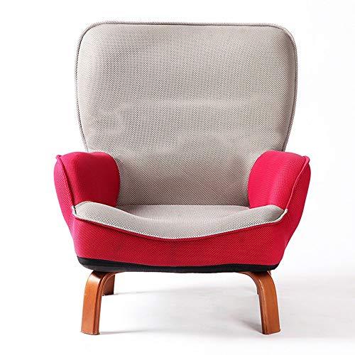 QTQZHH Sofa-Bett-Karikatur-Kind-Sofa-fauler reizender einzelner Stuhl-zufälliger kreativer Wäsche-Stuhl (Farbe: Rot)
