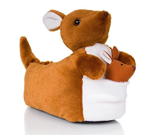 Kostüme Känguru Erwachsene (Martildo Fashion, Unisex 3D Neuartige, spaßige weiche warme bequeme Tier Geschenk Schlapfen, Känguru, M)