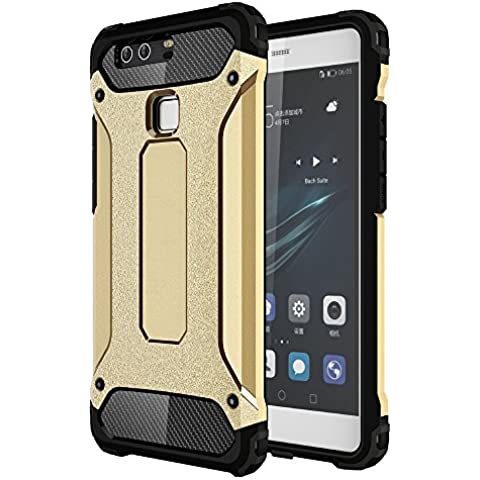 OnPrim Armor Hybrid Hard PC And Flexible Rubber Shockproof Bumper Drop Resistance Defend Case For Huawei Ascend P9 Plus 5.5 Inth