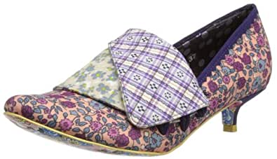 Irregular Choice Womens Flick Flack Low Ditsy Duke Court Shoes 2654-76 Purple Floral 4 UK, 37 EU