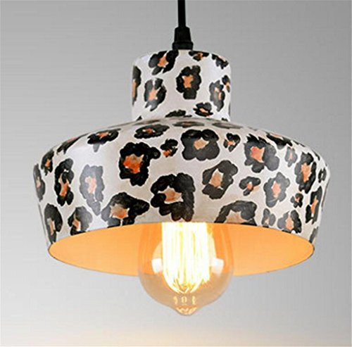 Madaye Amerikanischer retro industrieller Wind Kronleuchter Leopard kreativ Eisen Deckel Wohnzimmer Restaurant Licht 20*16cm - Venezianische 16 Licht