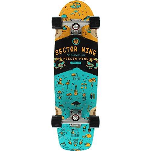 sector-9-shindig-teal-arancione-longboard