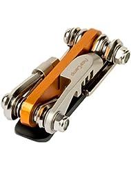 AceCamp All-in-One Bike Tool, Multi Tool, Mini Tool, herramienta multifunción para reparación de bicicleta, 14en 1Set, 187g, Naranja, Plata, 2565