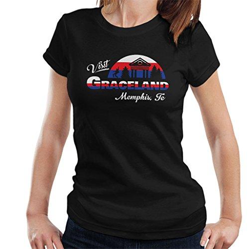 Coto7 Visit Graceland Memphis Tennessee Elvis Presley Women s T-Shirt 9b774f200c7