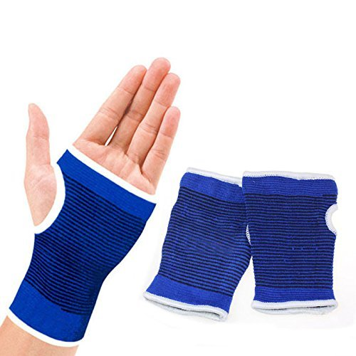 Bobopai Knitted Fingerless Mitten Winter Cotton Hand Warm Support Wrist Gloves Half Finger Hand Palm Protector Elastic Brace Gloves Indoor Home Supplies Women Men Girls Song Coupe