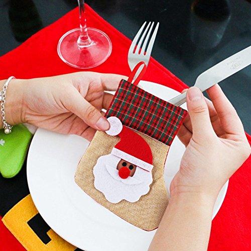 OurWarm Christmas stoviglie borsa 12PCS posate argenteria ...