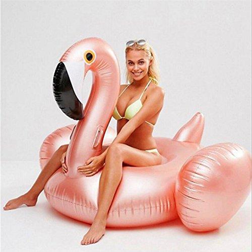 Hochwertige Pool Float Schwimmendes Bett Wasser aufblasbare Rose Gold Flamingo Schwimmende Reihe, Schwimmbad Float aufblasbare Spielzeug Erwachsene & Kind schwimmende Bett Wasser Erholung Stuhl KKY-ENTER