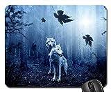 Gaming-Mauspads, Mauspad, Wolf Forest Autumn Dark Predator Naturtier