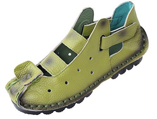 Vogstyle Donna Nuove Sandali Tacco Basso Scarpe Casuali Stile 2-Mela Verde