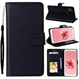 Xiaomi Redmi S2 (Redmi Y2) Case, Danallc Luxury PU Leather Wallet Flip Protective Durable Case Cover With Card Slots And Stand For Xiaomi Redmi S2 (Redmi Y2) Black