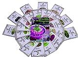 SaatPur Bio-Keimsprossen-Set + Buch Sprossen & Mikrogrün von Angelika Fürstler 40 Rezepte + 21 Portionen Keimsaat Alfafa, Brokkoli, Fenchel, Grünkohl, Radies, Rotklee, Zwiebeln, Linsen