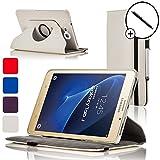Forefront Cases® Samsung Galaxy Tab J / J Max Smart Case Cover Custodia Caso Girevole in Pelle - Protezione dispositivo completa e funzione Smart Auto Sleep Wake + STILO