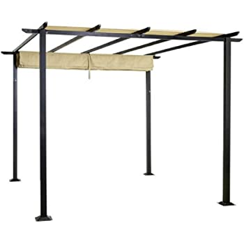 STS SUPPLIES LTD Aluminium Pergola Gazebo Garden Sliding Roof Canopy